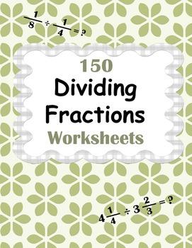 Dividing Fractions Worksheets - Proper, Improper & Mixed F