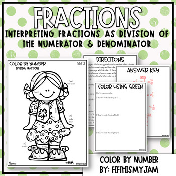 Dividing Fractions Color By Number 5.NF.3