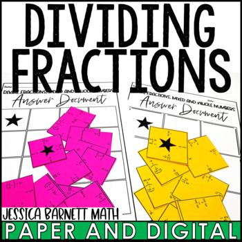 Dividing Fractions Square Puzzle