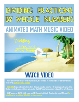 Dividing Fractions by Whole Numbers | FREE Printable Poste