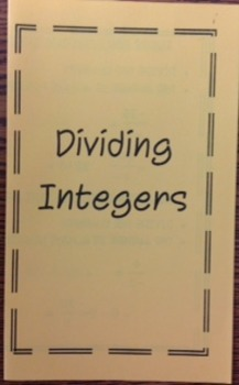 Dividing Integers Foldable
