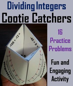 Dividing Integers Game/ Dividing Integers Practice 6th 7th