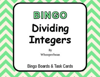 Dividing Integers BINGO and Task Cards