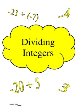 Dividing Integers File Folder Games