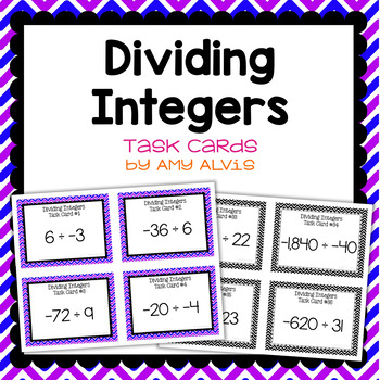 Integer Task Cards - Division