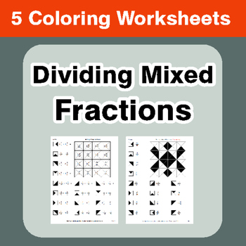 Dividing Mixed Fractions - Coloring Worksheets