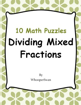 Dividing Mixed Fractions Puzzles