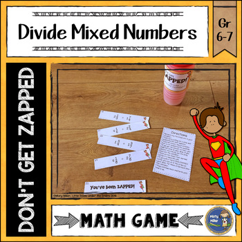 Dividing Mixed Numbers ZAP Math Game