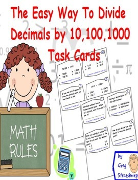 Common Core-Dividing Numbers By 10, 100, 1000 Made Easy Ta