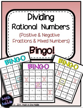 Dividing Rational Numbers (Positive & Negative Fractions &