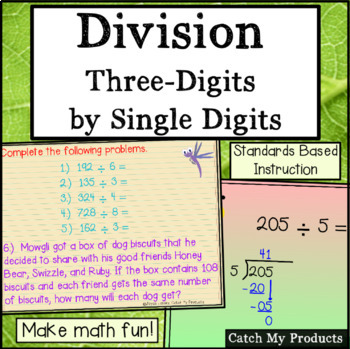 Dividing Three Digit by One Digit Numbers for Promethean Board