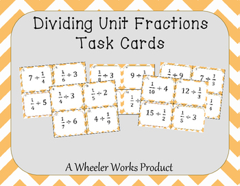 Dividing Unit Fractions Task Cards