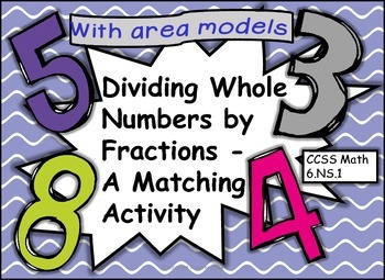 6.NS.A.1 Dividing Whole Numbers by Fractions Matching Acti