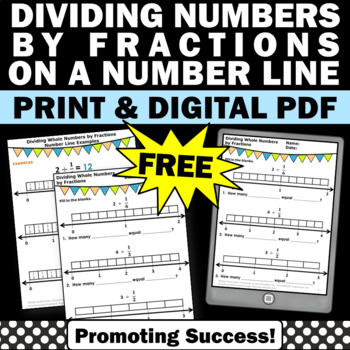 FREE Dividing Whole Numbers by Fractions Worksheets 5th Gr