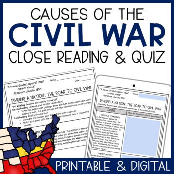 Dividing a Nation: The Road to Civil War (Guided Textual A