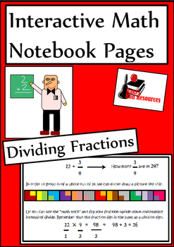 Dividing by Fractions Lesson for Interactive Math Notebooks