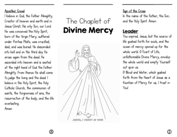 Divine Mercy Chaplet Trifold