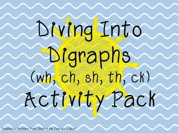 Diving Into Digraphs (Activity Pack)