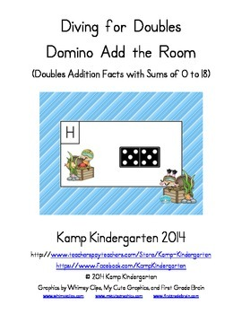Diving for Doubles Domino Add the Room (Doubles Facts with