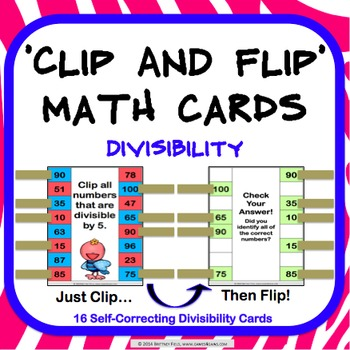 Divisibility Activity: Divisibility Rules Task Cards