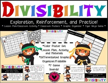 Divisibility-Lesson Plan/Activity,  Graphic Organizer, Pos