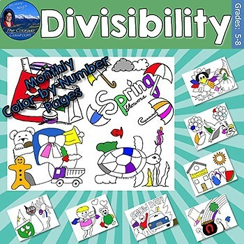 Divisibility Monthly Color by Number Pages
