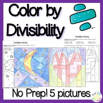 Divisibility Practice: Color by Divisbility