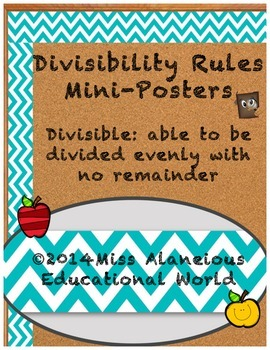 Divisibility Rules Chevron Posters