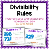 Divisibility Rules - Posters and Interactive Notebook INB set
