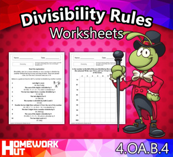 4.OA.4 - Divisibility Rules Worksheets