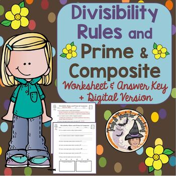 Divisibility Rules and Prime and Composite Worksheet Pract