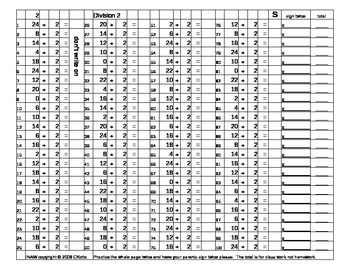 (Sprints) Division 1-10;  It's Not a Worksheet (INAW) Book