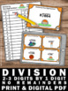 Division 2-3 Digit by 1 Digit without Remainders Task Card