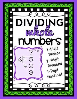 Division: 2-Digit by 1-Digit, 1-Digit Quotient with Remain