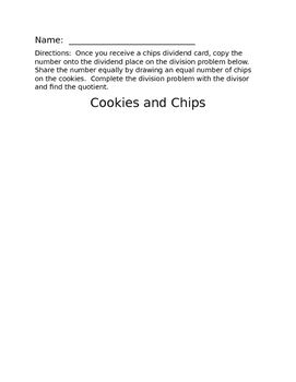 Division Cookies and Chips