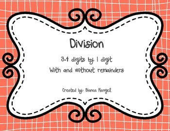Division 3-4 digits by 1 digit task cards