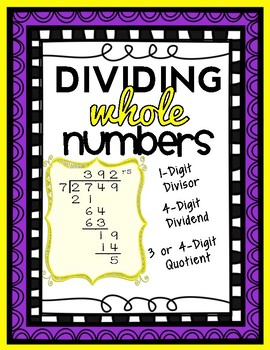 Division: 4-Digit by 1-Digit Long Division, Computation an