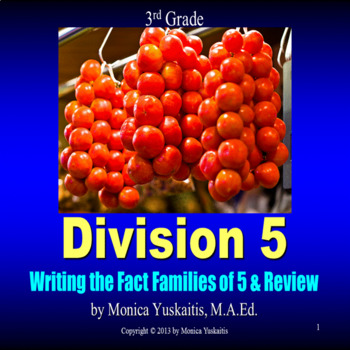 Common Core 3rd - Division 5 - Writing Fact Families of 5