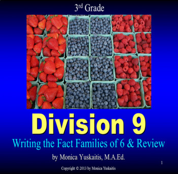 Common Core 3rd - Division 9 - Writing Fact Families of 6