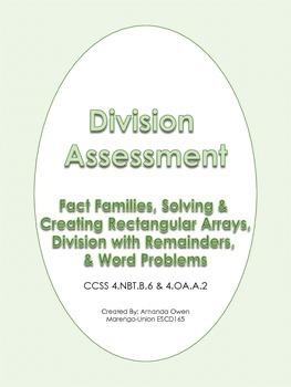 Division Assessment- CCSS Aligned