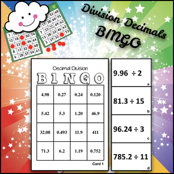 Division Bingo With Decimals