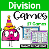 Division Games for Division Facts Game Boards