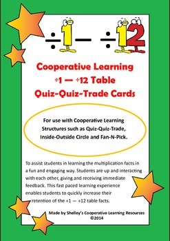 Quiz Quiz Trade Division By 1-12 Cards Multi-Pack