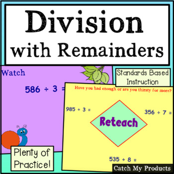 Division - Changing Remainders to Fractions Power Point