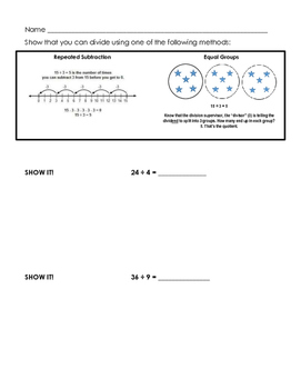 Division Concepts Practice