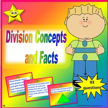 Division Concepts and Facts Review and Test Prep