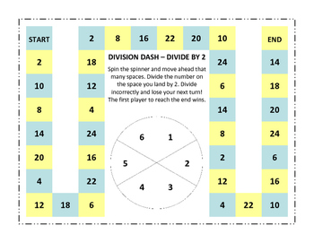 Division Dash - Divide by 2, 3, and 4