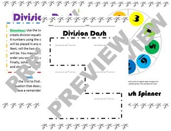 5.NBT.6 Division Dash Game