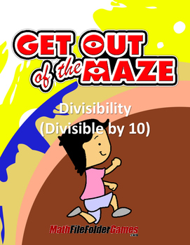 Division Worksheets: Divisibility Maze - Divisible by 10