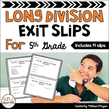Division Exit Slips - 5th Grade